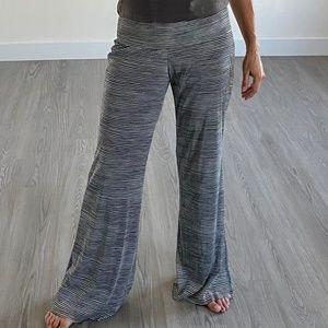 ATHENA MARIE B&W Striped Lined Pants M